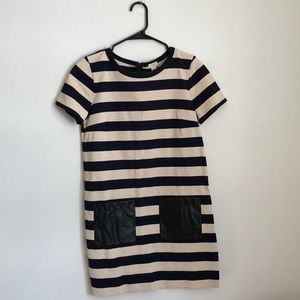 J. Crew striped shift dress